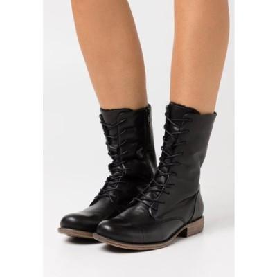 アンナフィールド レディース 靴 シューズ LEATHER - Lace-up boots - black
