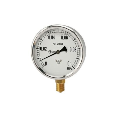 グリセリン入り圧力計Φ100 右下精器製造 GLT-41-0.1MPa