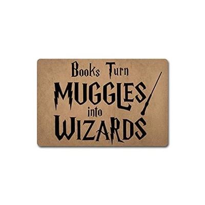 ZQH Mats Funny Door Mat Books Turn Muggle Into Wizard Doormat Funny Welcome