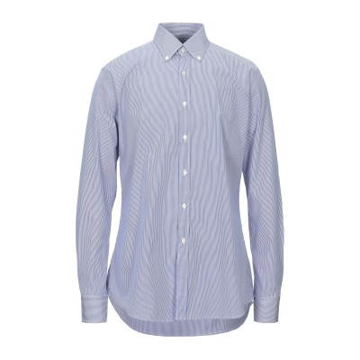 XACUS シャツ ブルー 42 コットン 100% シャツ