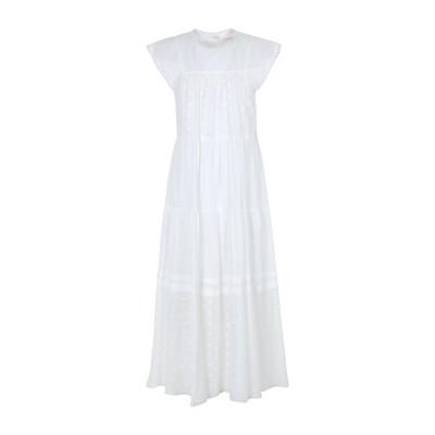 シーバイクロエ SEE BY CHLOÉ 7分丈ワンピース・ドレス ホワイト 38 コットン 100% 7分丈ワンピース・ドレス