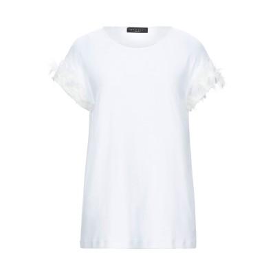 ファビアナフィリッピ FABIANA FILIPPI T シャツ ホワイト 46 コットン 94% / ポリウレタン 6% / ポリエステル / ナ
