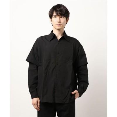 シャツ ブラウス オーバーサイズ レイヤード デザイン シャツ SVEC / シュベック