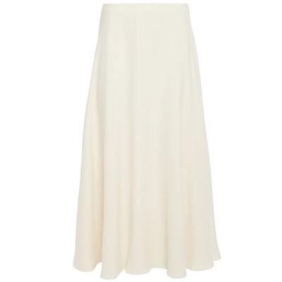 セオリー THEORY レディース ひざ丈スカート スカート crepe midi skirt Cream