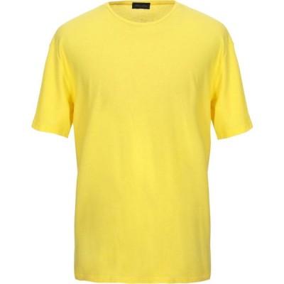 ロベルトコリーナ ROBERTO COLLINA メンズ Tシャツ トップス t-shirt Yellow