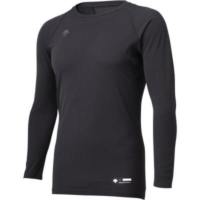 アンダーシャツ メンズ ロングTシャツ メンズ トップス メンズ 丸首長袖アンダーシャツ ブラック  (DES)(QCB02)