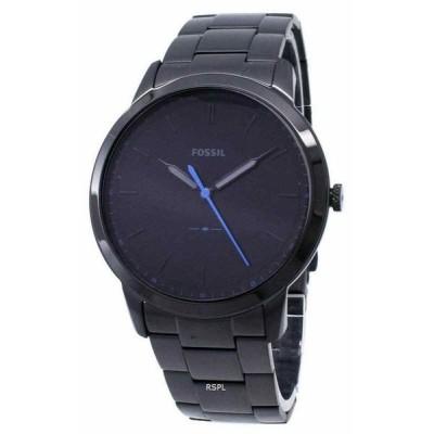 フォッシル 腕時計 Fossil メンズ The Minimalist Slim Three-Hand Black Stainless Steel Watch FS5308