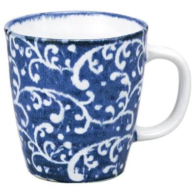 マグカップ 和食器 / 波唐草マグ ブルー 寸法: 8.2 x 8.6cm 260cc