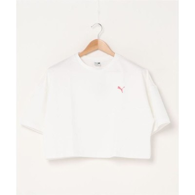 tシャツ Tシャツ PUMA プーマ エバイド クロップド ティーシャツ EVIDE FS CROPPED TEE (PUMA WHITE)