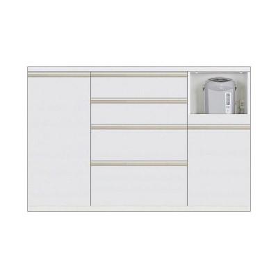 キッチン収納 カウンター Nサイゼスト140 (ホワイト)