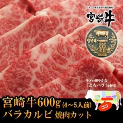 宮崎牛上カルビ・ともバラ焼肉カット600g【バーベキュー】【BBQ】