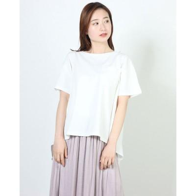 コムサイズム COMME CA ISM <オーガニックコットン> バッグフレアTシャツ (ホワイト)