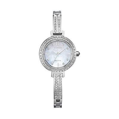 腕時計 シチズン 逆輸入 EM0860-51D Ladies' Citizen Eco-Drive Silhouette Crystal Stainless Steel Watch