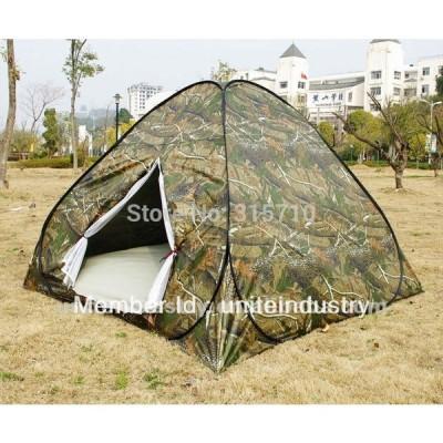 テント3-4persons のための低価格でテントをポップアップ屋外旅行キャンプ 2 迷彩色でフォールディング camouflage 1