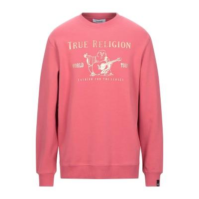 トゥルーレリジョン TRUE RELIGION スウェットシャツ パステルピンク S コットン 80% / ポリエステル 20% スウェットシャツ