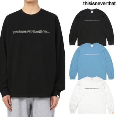 [THISISNEVERTHAT] SP INTL L/SL TOP 21SS 韓国正規品 日本未入荷 ディスイズネバーザット トレーナー tシャツ 169183 レディース メンズ