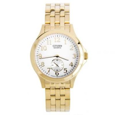 腕時計 シチズン Citizen クォーツ ゴールド トーン ブレスレット アナログ レディース カジュアル 腕時計 EQ9052-51A