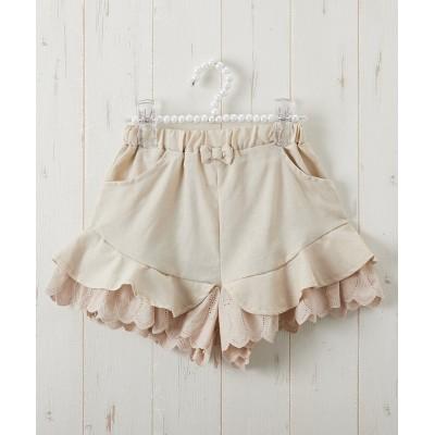 レース使いキュロットパンツ(女の子 子供服・ジュニア服) キュロット・パンツインスカート・スカート, Girls Skirts
