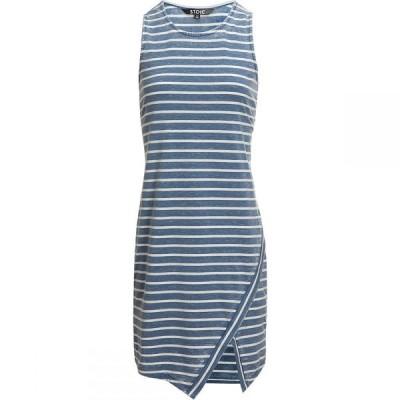 ストイック Stoic レディース ワンピース ノースリーブ ワンピース・ドレス Stripe Sleeveless Dress Denim White