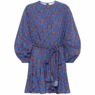 ロードリゾート RHODE レディース ワンピース ワンピース・ドレス Ella floral cotton minidress Blue Blossom