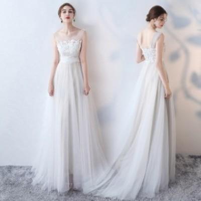 ウェディングドレス 花嫁ドレス パーティードレス 結婚式 お呼ばれドレス ブライズメイドドレス 二次会 軽量/海外挙式 ロングドレス 大き