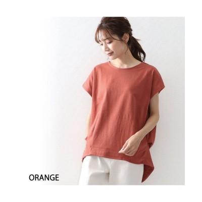 【オウンコード】 ヘビーウエイトコットンコクーンシルエットTシャツ レディース オレンジ M OWNCODE