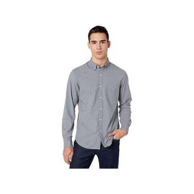 J.Crew Slim Stretch Secret Wash Shirt in Heathered Organic Cotton メンズ シャツ トップス Smoky Slate