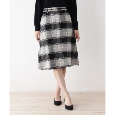 スカート ビットベルト付きAラインスカート