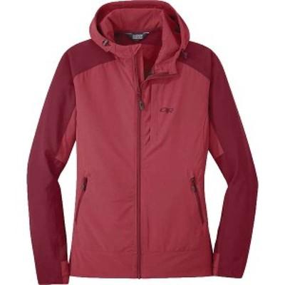 アウトドアリサーチ レディース ジャケット・ブルゾン アウター Outdoor Research Women's Ferrosi Hooded Jacket Clay / Crimson
