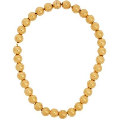 ジル サンダー Jil Sander レディース ネックレス ジュエリー・アクセサリー Beaded gold-tone necklace Gold