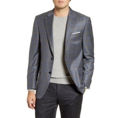 ピーター・ミラー メンズ ジャケット&ブルゾン アウター Flynn Classic Fit Plaid Wool Sport Coat GREY