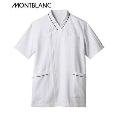 MONTBLANC スクラブ(半袖)(男性用) ナースウェア・白衣・介護ウェア