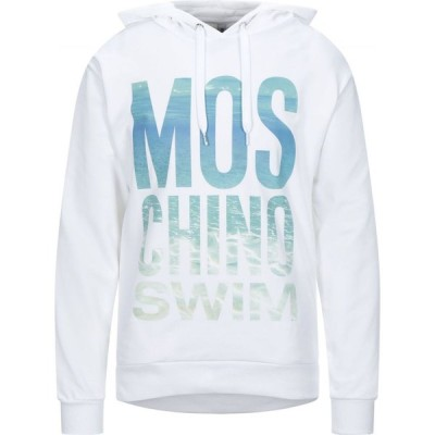 モスキーノ MOSCHINO メンズ パーカー トップス Hooded Sweatshirt White