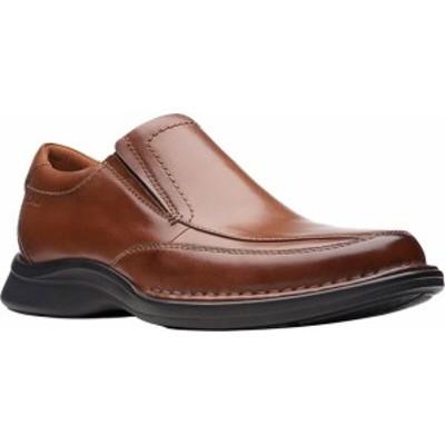 クラークス メンズ スリッポン・ローファー シューズ Men's Clarks Kempton Free Loafer Tan Full Grain Leather