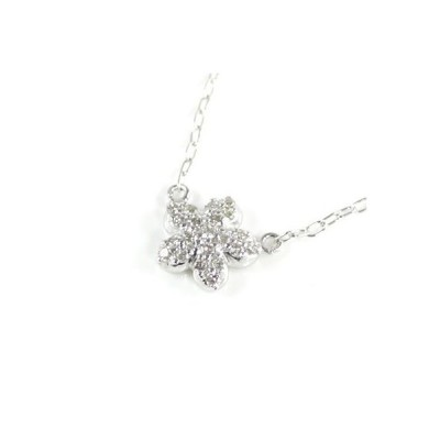 Brand Jewelry me. K10ホワイトゴールド ダイヤモンド ペンダント ネックレス スター【今だけ代引手数料無料】
