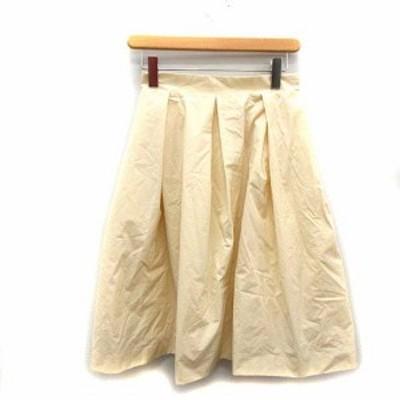 【中古】シンゾーン Shinzone スカート ロング フレア 34 白 オフホワイト /NT17 レディース