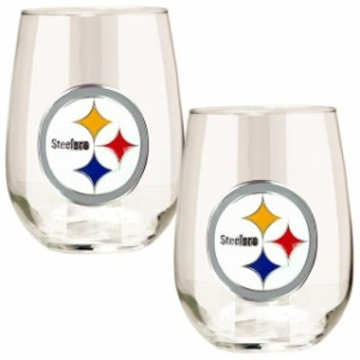 Great American Products ゲット アメリカン プロダクツ スポーツ用品  Pittsburgh Steelers 15oz. Stemless Wine Gl