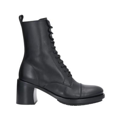 アン ドゥムルメステール ANN DEMEULEMEESTER ショートブーツ ブラック 40 革 ショートブーツ