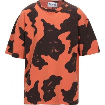 エチュード ETUDES メンズ Tシャツ トップス T-Shirt Orange