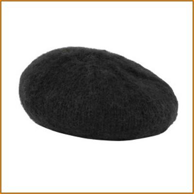 ベレー帽 ハイライト ブラック 10618621040 ▼シンプルタイプのニットベレー