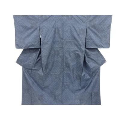 宗sou 未使用品 幾何学模様織出本場泥大島紬着物(5マルキ)【リサイクル】【着】