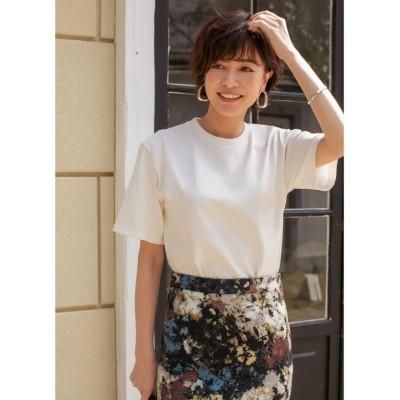【スタイルデリ】 ボーイズライクしっかり生地Tシャツ レディース ホワイト M STYLE DELI