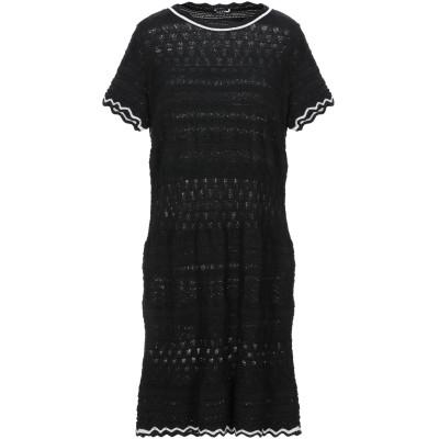 NEERA ミニワンピース&ドレス ブラック 42 コットン 90% / レーヨン 5% / Lurex® 5% ミニワンピース&ドレス