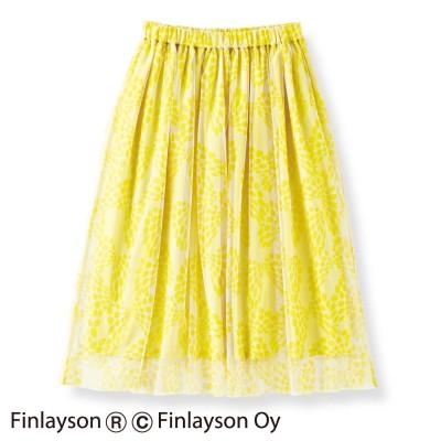 フィンレイソン×フェリシモ デザインコンペ ふわりチュールスカート〈CHO NO MURE〉チョウ ノ ムレ フェリシモ FELISSIMO