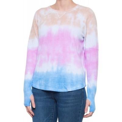 シーアンドシー カリフォルニア C&C California レディース トップス tie-dye thumbhole shirt - long sleeve Taupe/Pink/Blue