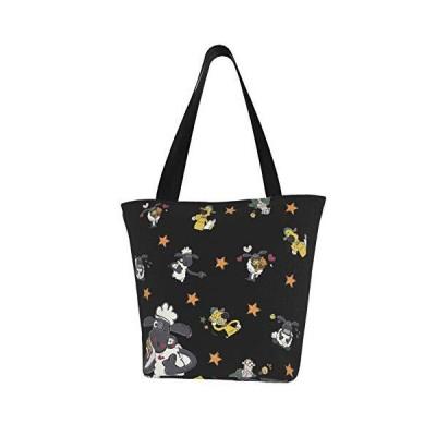 キャンバス トートバッグ 帆布バッグ トートバッグ tote bag ひつじのショーン ショッピングバッグ エコバッグ ?