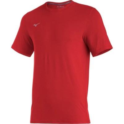 ミズノ Mizuno メンズ Tシャツ トップス Comp Diamond Short Sleeve Crew red