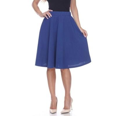 ホワイトマーク スカート ボトムス レディース Saya Flare Skirt Royal