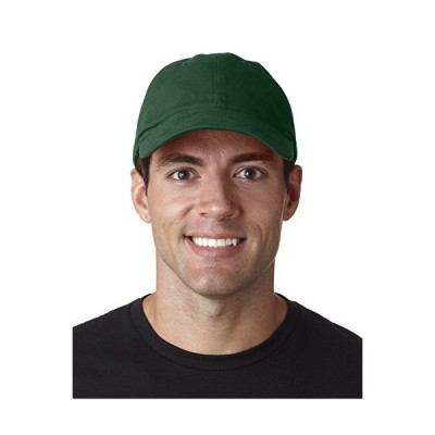 Ultraclub 8111 UC Brushed Solid Cap - Forest Green - One
