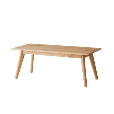 オークの無垢材を贅沢に使用したリビングテーブル